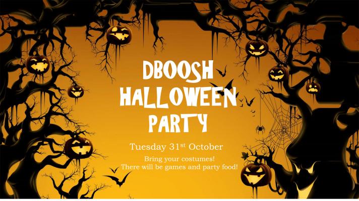 DBOOSH Halloween Party poster-1