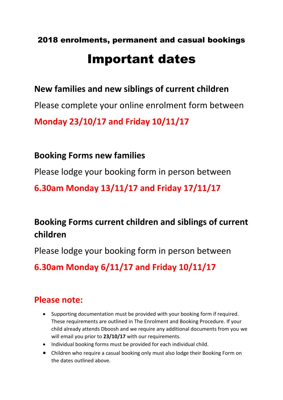 Important dates-1