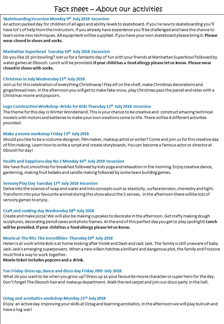 July Vac Care Program 2018 page 2